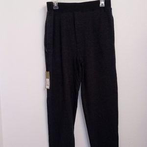 Men's Knit Black pajama pants With Side Pockets